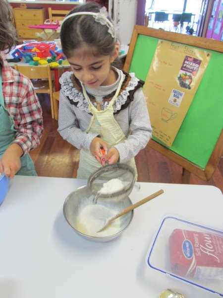The children get to cook regularly at the Kindy. It is all very hands on and fun.