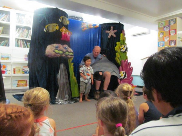 They even got to meet a dolphin puppet and got to talk about how we can protect them.